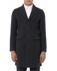 Burberry Prorsum - Herringbone Wool and Cashmereblend Coat - Lyst