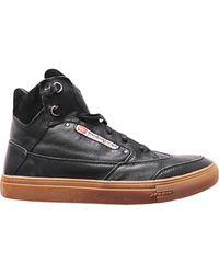 Diesel Revolution Clawking Leather Hitop Sneakers - Lyst