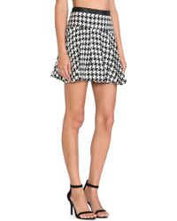 BCBGeneration Heckered Pleated Skirt - Lyst