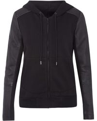 Francis Leon - Black Siren Quilted Leather Hooded Jacket - Lyst