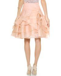 Milly Tara Full Skirt - Blush - Lyst