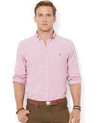 Polo Ralph Lauren Pink Oxford Shirt - Lyst