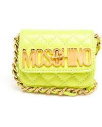 Moschino Quilted Leather Mini Bag - Lyst
