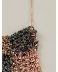 Arielle De Pinto - Knit Checkered Chain Necklace - Lyst