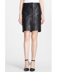 Alexander Wang Leather Skirt - Lyst