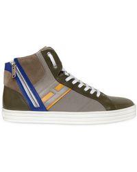 Hogan Rebel Leather & Papirok High Top Sneakers - Lyst