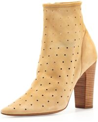 See By Chloé Suede Perforated Ankle Bootie - Lyst