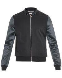 Paul Smith Satin-Sleeve Wool Bomber Jacket - Lyst