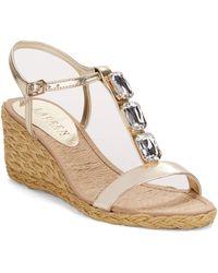 Lauren by Ralph Lauren Corala Espadrilles Wedge Sandals - Lyst