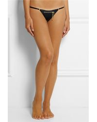 Agent Provocateur Trixie Zipped Satin Thong - Lyst