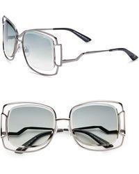Swarovski - Square Peekabook Metal Sunglassesgunmetal - Lyst