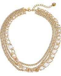 Kate Spade Draped Jewels Multi Strand Necklace - Lyst