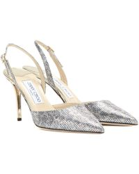 Jimmy Choo Tilly Glitter Sling-Back Pumps - Lyst