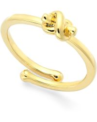 Kate Spade Love Knot Adjustable Ring - Lyst