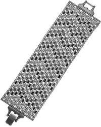 Lauren by Ralph Lauren Hematite-tone Crystal Mesh Diamond Shaped Pavé Wide Bracelet - Lyst