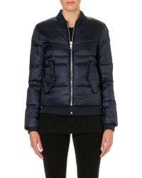 Diesel Quilted Bomber Jacket Navy - Lyst