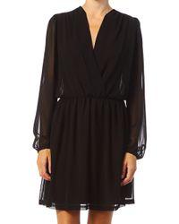 Sinequanone Black Wrap Dress - Lyst
