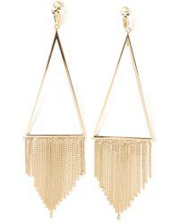 Saint Laurent Fringed Earrings - Lyst