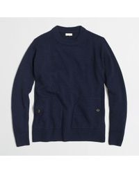 J.Crew Factory Patch-pocket Sweater - Lyst