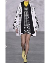 Holly Fulton - Ursula Embroidered Zip Up Dress - Lyst
