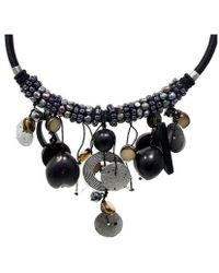 Aeravida - Moon Droplets Mixed Stone Pearl Beaded Necklace - Lyst