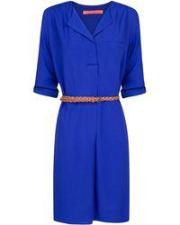 Mango Vneck Dress - Lyst