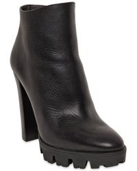 Emporio Armani 120mm Leather Ankle Boots - Lyst