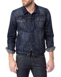 7 For All Mankind Vintage 7 Collection: Destroyed Denim Jacket - Lyst