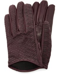 Imoni   Short Python And Lambs Leather Gloves   Lyst