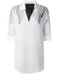 Jay Ahr   Cut-out Detail Shirt   Lyst