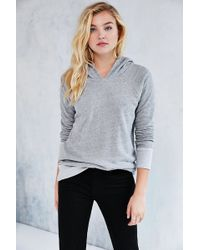 Truly Madly Deeply - Reversible Waffle Hoodie Sweatshirt - Lyst