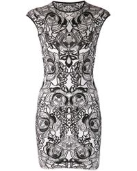 Alexander McQueen White Printed Dress - Lyst