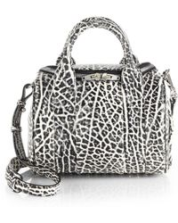 Alexander Wang Rockie Two-Tone Pebbled Leather Duffel Bag/Silvertone - Lyst