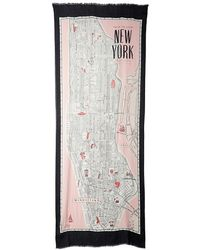 Kate Spade Detailed New York Map Scarf - Lyst