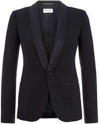 Saint Laurent Shawl Collar Jacket - Lyst