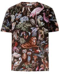 Valentino Animal-Print Cotton T-Shirt - Lyst