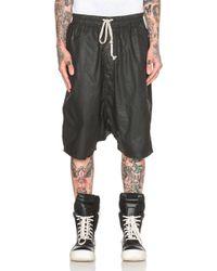 DRKSHDW by Rick Owens Men'S Wax Boxer Pod Shorts black - Lyst