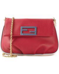 Fendi Fendista  Leather Shoulder Bag - Lyst