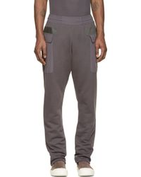 Silent - Damir Doma - Grey Paneled Pocket Plejona Lounge Pants - Lyst