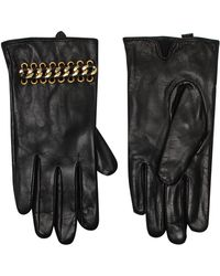 Kurt Geiger - Leather & Chain Gloves - Lyst