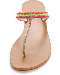 Star Mela Lovi Beaded Thong Sandals Multi - Lyst