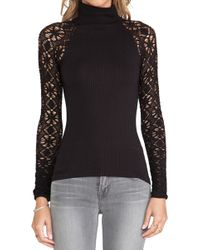 Free People Mock Neck Cami - Lyst