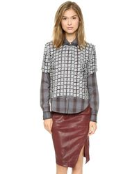 Elizabeth And James Carnie Blouse  Silver - Lyst