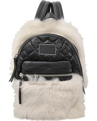 Marc By Marc Jacobs - Domo Biker Fur Backpack - Lyst