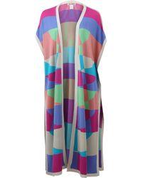 Mara Hoffman Long Knit Poncho multicolor - Lyst