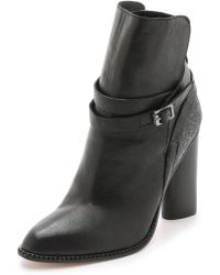 Cynthia Vincent - Hue Booties - Black/charcoal - Lyst