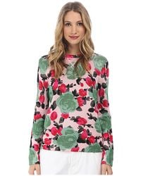 Marc By Marc Jacobs Jerrie Rose Printed Sweater - Lyst