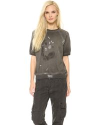 Bliss and Mischief - Lucas Painter Sweatshirt - Painted Pigment Black - Lyst