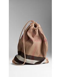 Burberry The Big Duffle in Canvas Check - Lyst