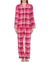 DKNY Printed Flannel Pyjama Set - For Women - Lyst